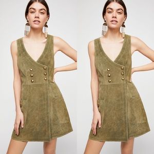 Free People Stevie Suede Leather Mini Dress